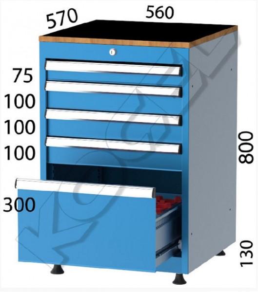 FABRIKA - CNC 5 ÇEKMECELİ TAKIM DOLABI (1 CNC ÇEKMELİ) 2650